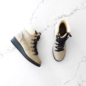 Sugar Metallic Lace-Up Winter Boots